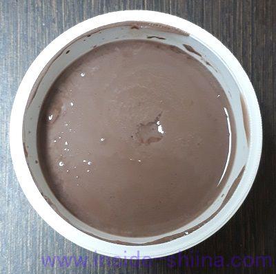 おいしい低糖質プリン ハイカカオチョコレート(森永) 見た目