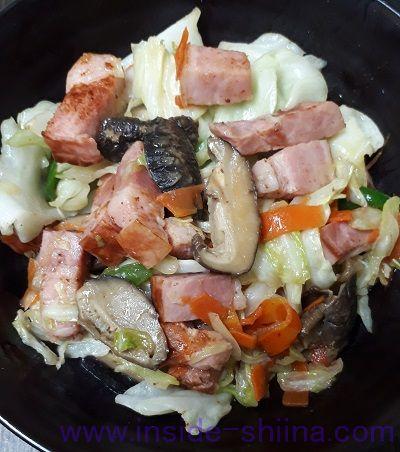 お料理ベーコン(丸大食品) 野菜炒め