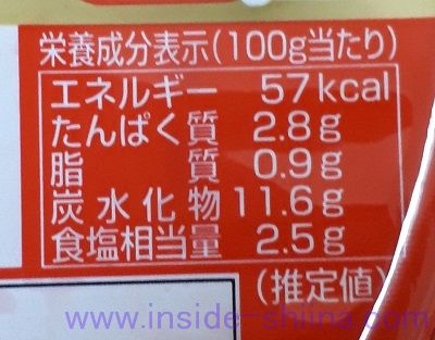 イチオシ焼肉屋の味キムチ(美山) カロリー 糖質