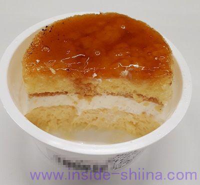 4種チーズのブリュレチーズケーキ(ファミマ) 断面