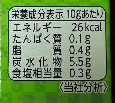 S&B 本生本わさび カロリー 糖質