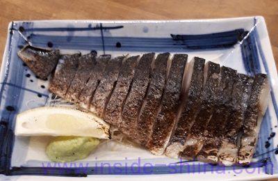 しめ鯖の炙り(磯丸水産)