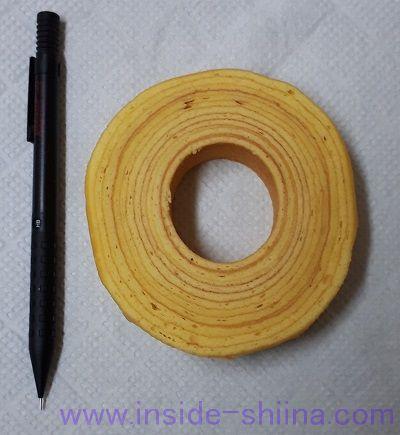セブン 金のしっとりバウムクーヘン 直径