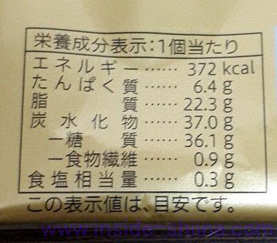 セブン 金のしっとりバウムクーヘンのカロリー、糖質、脂質