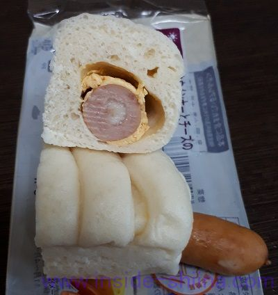 ポークウインナーとチーズのしっとりロール 中身