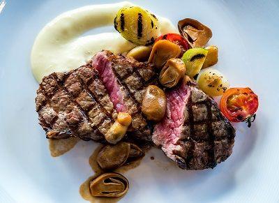 スーパー糖質制限の食事メニュー ステーキ