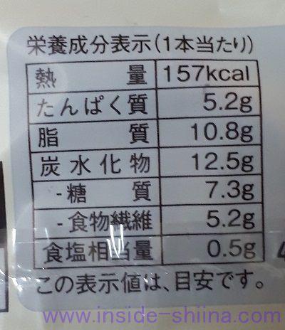 ローソン ブランのアマニデニッシュ2本入 カロリー 糖質