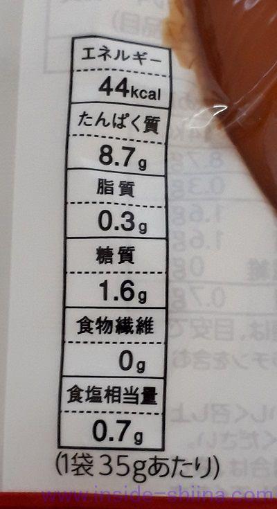 国産鶏スモークチキン(ファミマ) カロリー 糖質