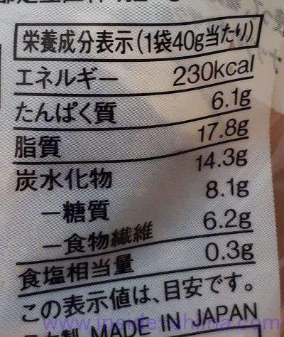 無印の糖質オフ 糖質10g以下のお菓子 ショコラサブレ(Chocolate Sable)税込250円 カロリー 糖質