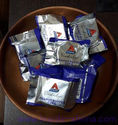 ATKINS社のピーナッツバターカップは何個入り