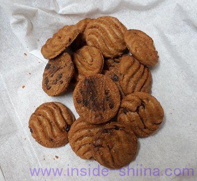 ローソン 小麦ブランとチアシードのチョコチップクッキー 見た目
