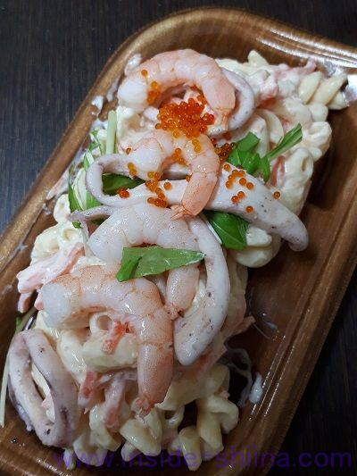 海老とイカの明太子サラダ