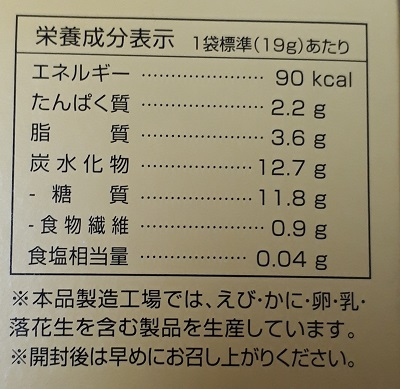チーズonクラッカー カロリー 糖質