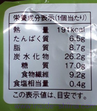 ローソン 大麦の抹茶ホイップパン(税込150円) カロリー 糖質