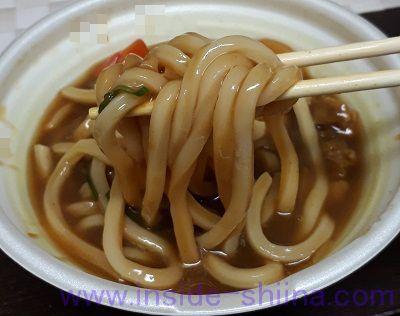 カレーうどん(セブン) 麺
