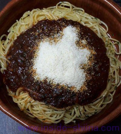 ミートソース(ファミマ) パルメザンチーズ