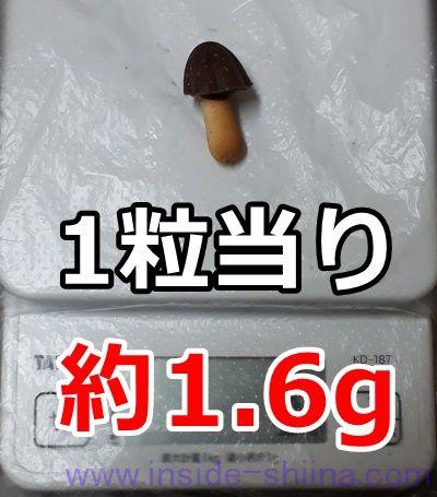 きのこの山1粒の糖質は!