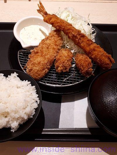 松のや 海鮮3種盛定食 カロリー 糖質