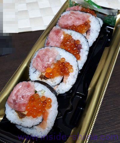 海鮮太巻(いくら・まぐろのせ)