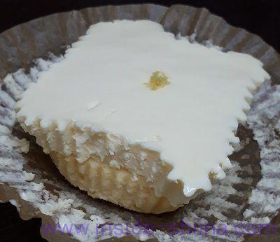 2層の贅沢チーズケーキ 見た目