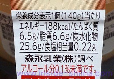 森永の焼プリン カロリー 糖質
