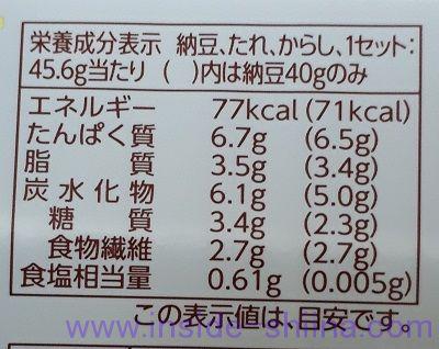 北海道納豆小粒 カロリー 糖質