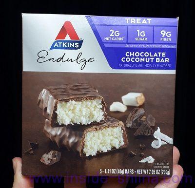 アトキンスのチョコレートココナッツバーを試す!味とカロリー、糖質も紹介!