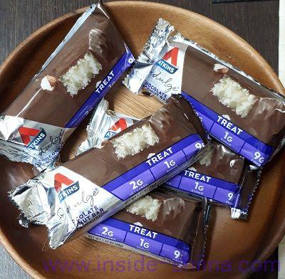 ATKINS(アトキンス)社のチョコレートココナッツバーは5本入り!