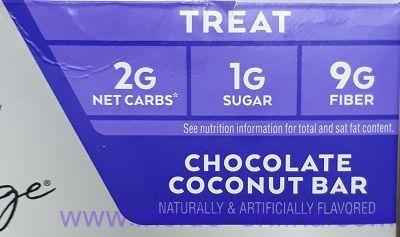 ATKINS(アトキンス)社のチョコレートココナッツバーは糖質2g?