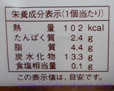 薄皮ピーナッツパン(ヤマザキ) カロリー 糖質