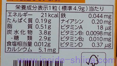 森永 ミルクキャラメル、一粒のカロリー、糖質は!