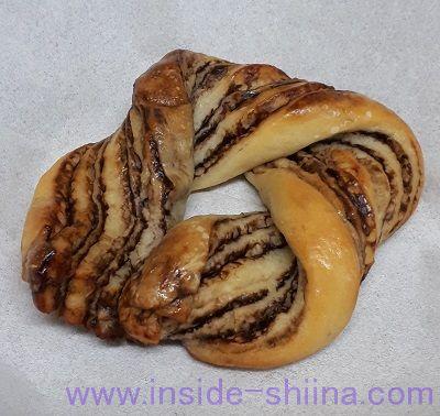 無印良品の低糖質パン!チョコリング(Chocolate Bread)見た目