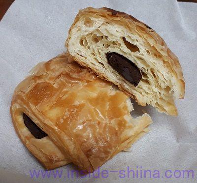 無印良品の低糖質パン!パン・オ・ショコラ(Pain au Chocolat)中身