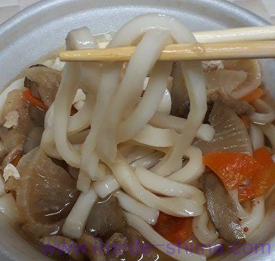 具だくさんけんちんうどん(ファミマ) 麺