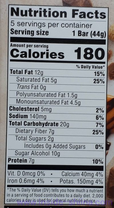ATKINS(アトキンス)社のキャラメルチョコレートナッツロールバーのカロリー、糖質は!