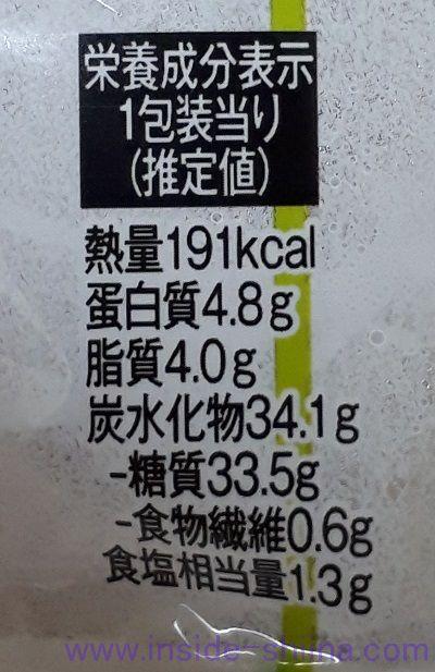 いなり寿司 わさび(茎わさび入り) カロリー 糖質