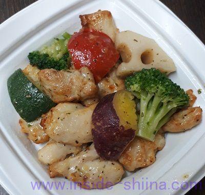 彩り野菜のバジルチキン