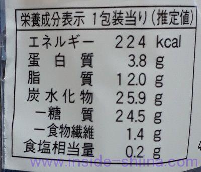 あんこと黒蜜のシュークリーム(ファミマ) カロリー 糖質