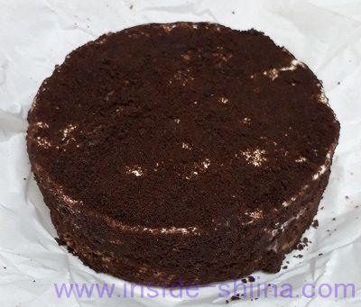 ルタオのチョコレートケーキ「ショコラドゥーブル」の見た目!