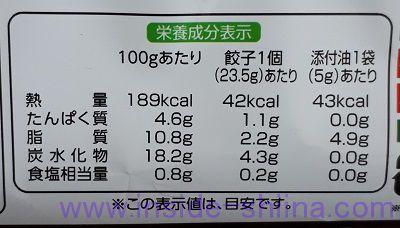 大阪王将 羽根つきカレーぎょうざ12個入 カロリー 糖質