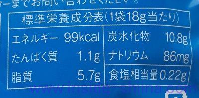 札幌おかきOh!焼とうきびのカロリー、糖質、脂質は!