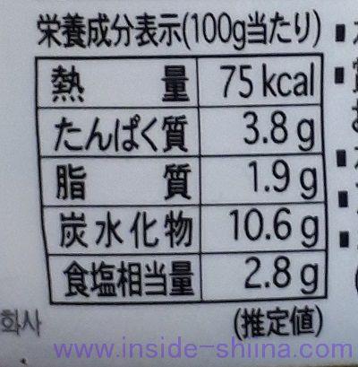 宗家キムチ旨味醗酵(大象ジャパン) カロリー 糖質