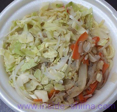 ごま油のきいた1/2日分の国産野菜タンメン(ミニストップ) 見た目