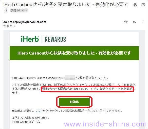 iHerb 紹介クレジット換金方法1