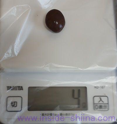 ロッテ アーモンドチョコレート クリスプの重さ