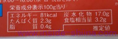 うまかキムチ(カネシマ) カロリー 糖質