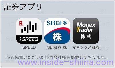 ヤフーファイナンスコネクト 証券アプリ