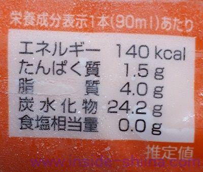 リボンナポリンアイス カロリー 糖質