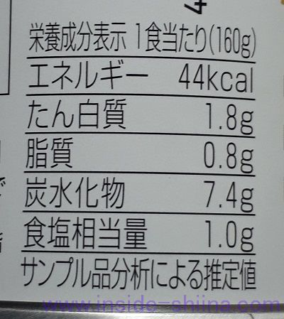 帝国ホテル ミネストロンスープのカロリー、糖質、脂質