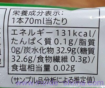 まるでマスカット(セブン) カロリー 糖質